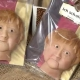 Galletas de mazapán con la cara de Angela Merkel