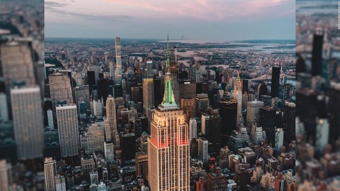 En Nueva York la bandera mexicana ilumina el Empire State