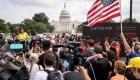 Protesta cerca al Capitolio ocurre sin graves incidentes