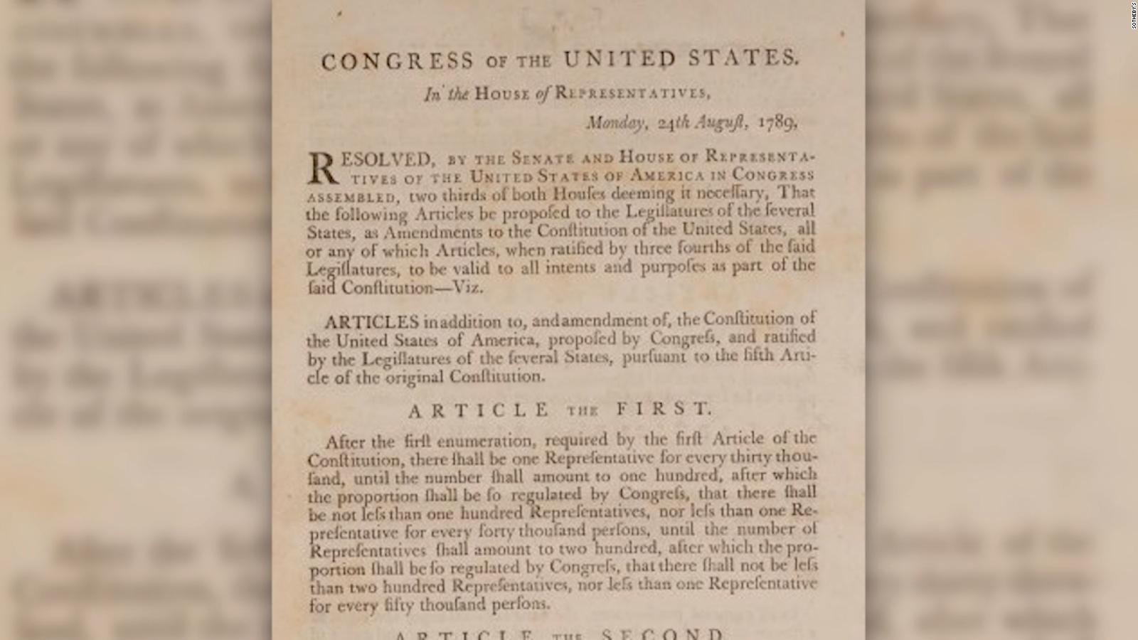 Subastan rara copia de la primera edición de la Constitución de EE.UU.