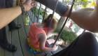 Niña queda atrapada en barandilla: así actuó la policía