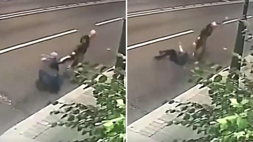 Abuela rusa resiste ataque de un ladrón callejero