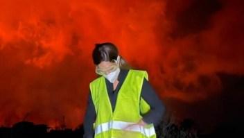 Impactantes imágenes y testimonio de argentina en La Palma