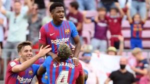 Ansu Fati habló de su gol en su regreso tras 322 días