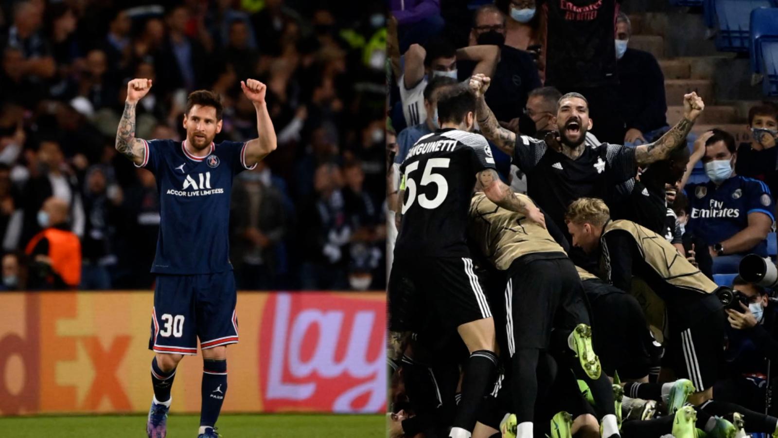 Messi al fin anotó para el PSG y el Sheriff dio el batacazo ante el Real Madrid