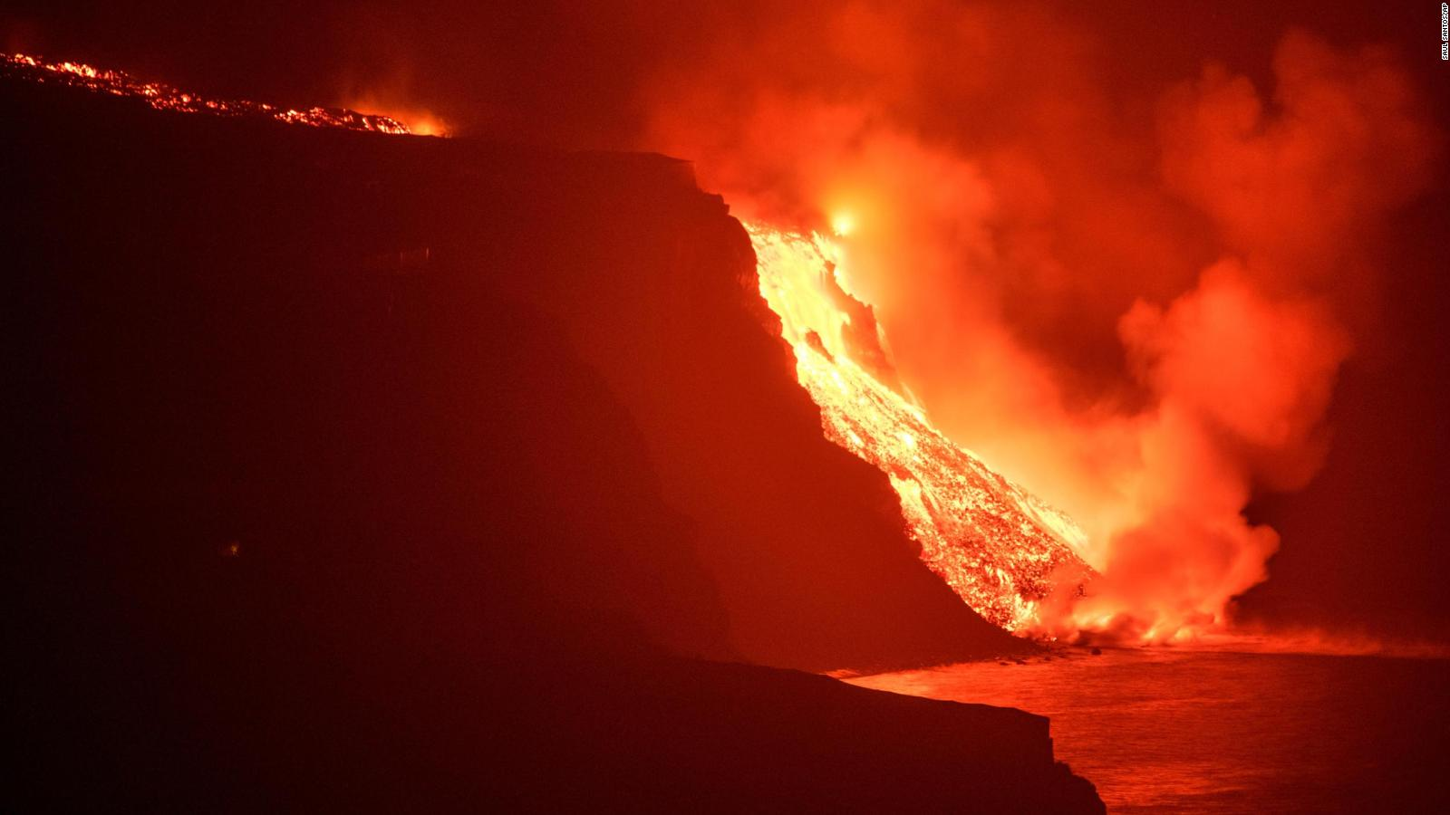 La Palma Volcano: Lava flow thickens after crater collapse