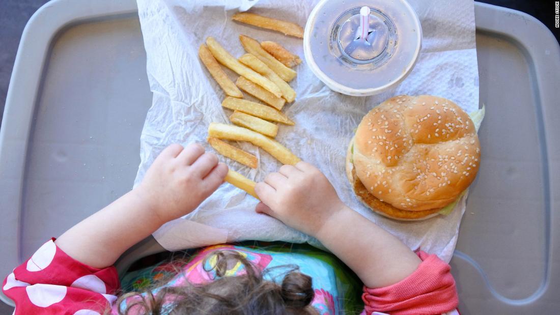 comida rápida niños