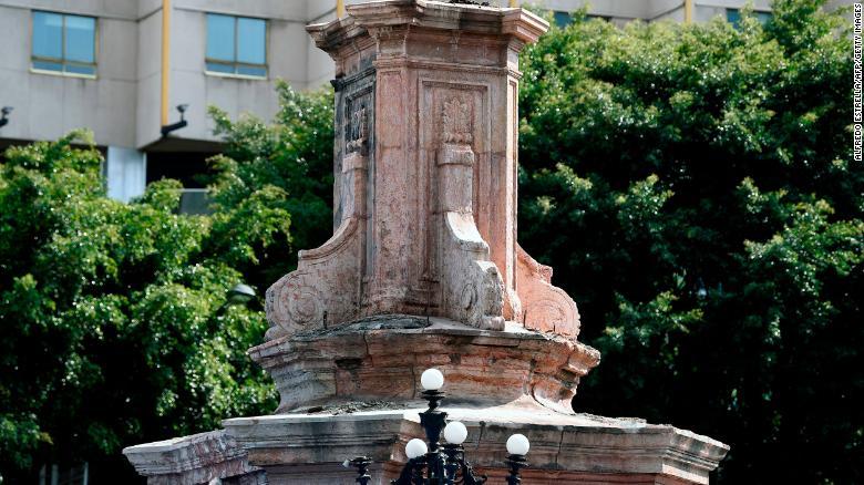 Estatua de Cristóbal Colón en la Ciudad de México será reemplazada por una de una mujer indígena
