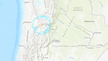sismo frontera Argentina Chile