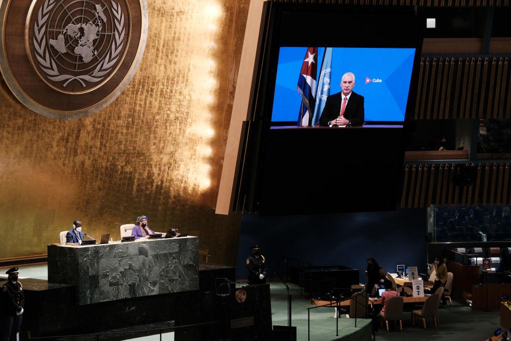 El presidente de Cuba arremete contra el gobierno de Biden en la Asamblea de la ONU por mantener 'medidas coercitivas'