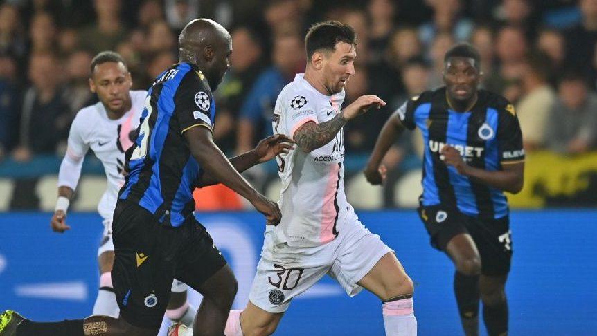 Messi regresa a la Liga de Campeones con un decepcionante empate entre el Club Brujas y el PSG