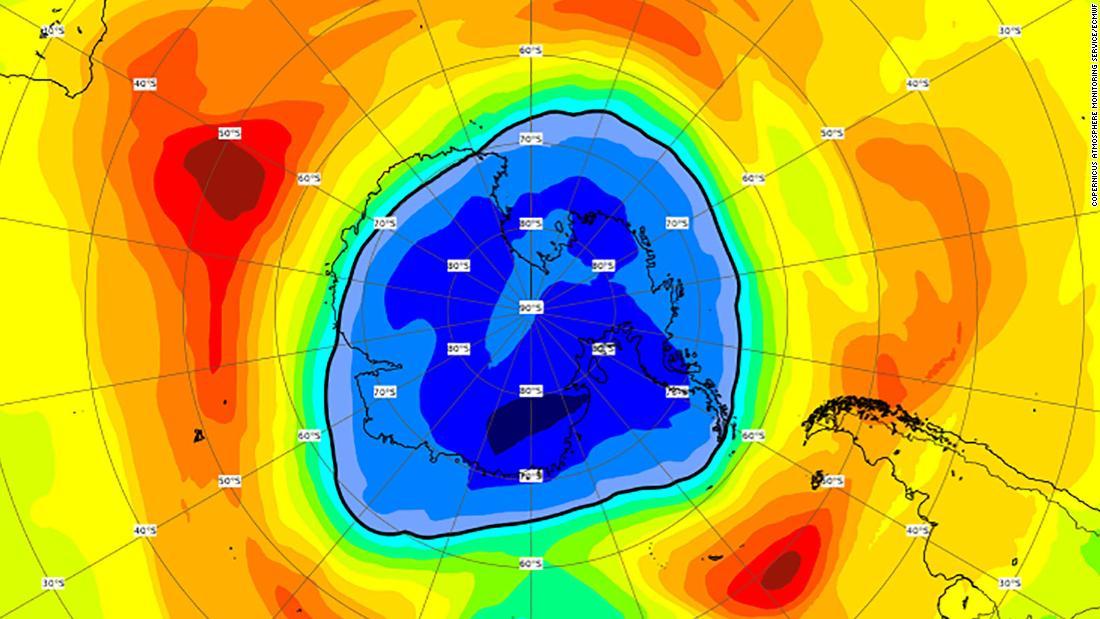 El agujero de ozono sobre el Polo Sur ahora es más grande que la Antártida