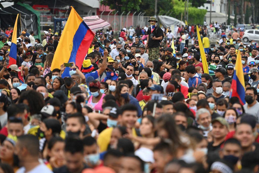 Perdió a su hijo durante protesta en Colombia