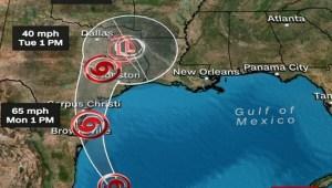 Nuevo aviso de huracán para Texas y Lousiana...