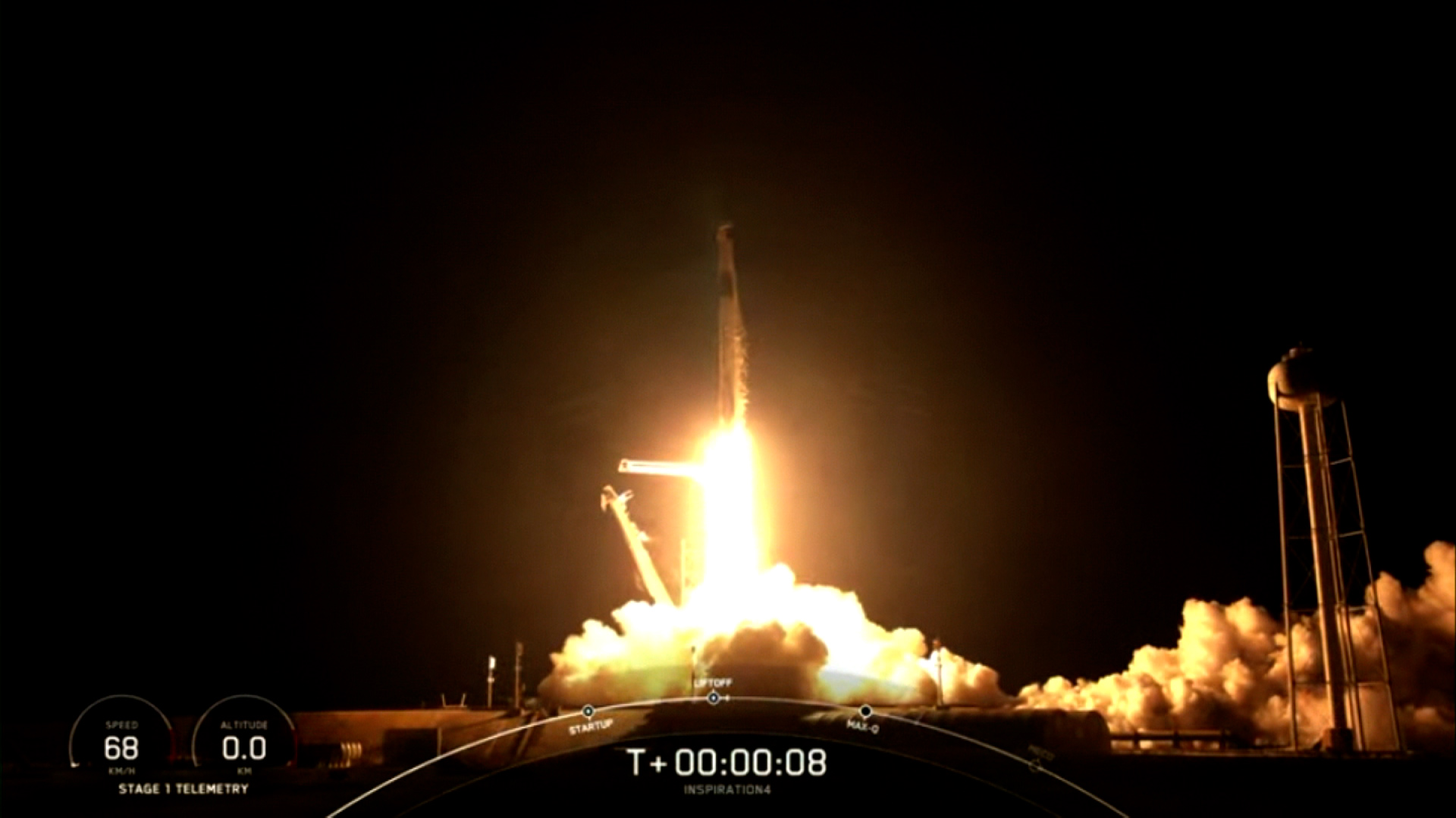 SpaceX realiza con éxito el lanzamiento de la misión Inspiration4 al espacio