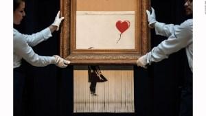 Precio récord por obra autodestruida de Banksy