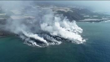 Mira el impactante camino de lava negra en La Palma