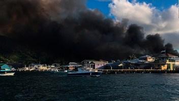 Más de 400 evacuados por incendio en Honduras
