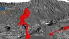 Fotos en 3D muestran trayecto de lava del Cumbre Vieja
