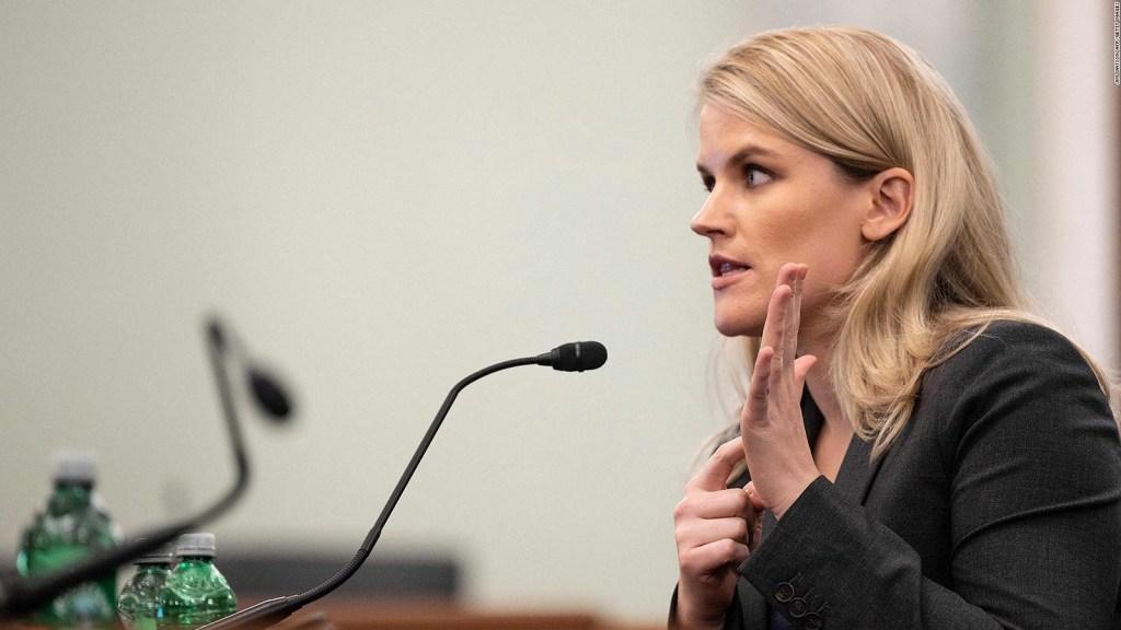 Frances Haugen, la denunciante de Facebook, en el Congreso