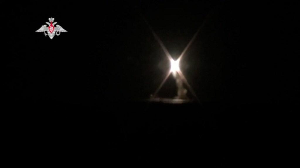 Primer lanzamiento de misil ruso desde un submarino