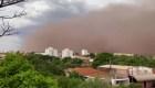 Tormenta de arena tiñó de naranja el cielo de São Paulo