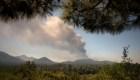 Nube de cenizas cubre el cielo de La Palma