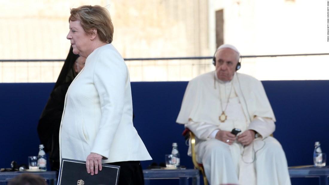 Angela Merkel hace su última visita al Vaticano