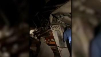 33 heridos tras choque de trenes en Túnez