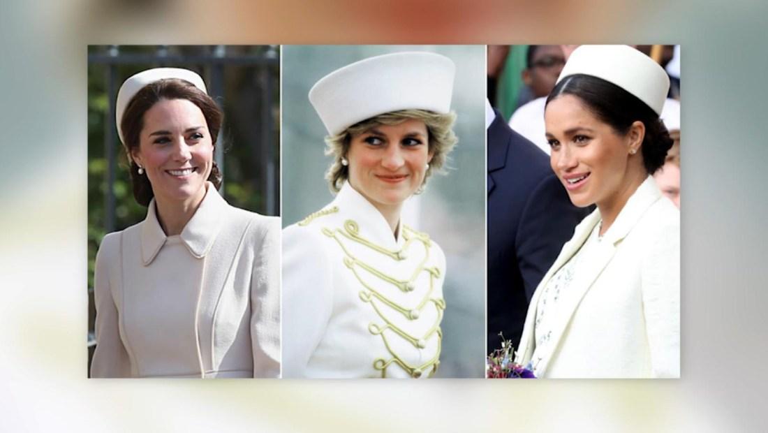 Así le rinden homenaje Kate y Meghan a Lady Di