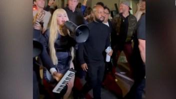 Madonna sorprende con un show en las calles de Nueva York