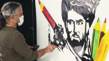 Las obras de un muralista afgano que reclaman paz