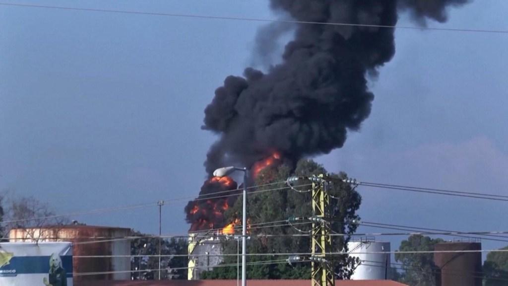 El Líbano pierde combustible por incendio