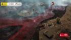 Drone capta ríos de magma del volcán de La Palma