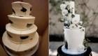 Novios comparten una foto de su tarta de boda fallida