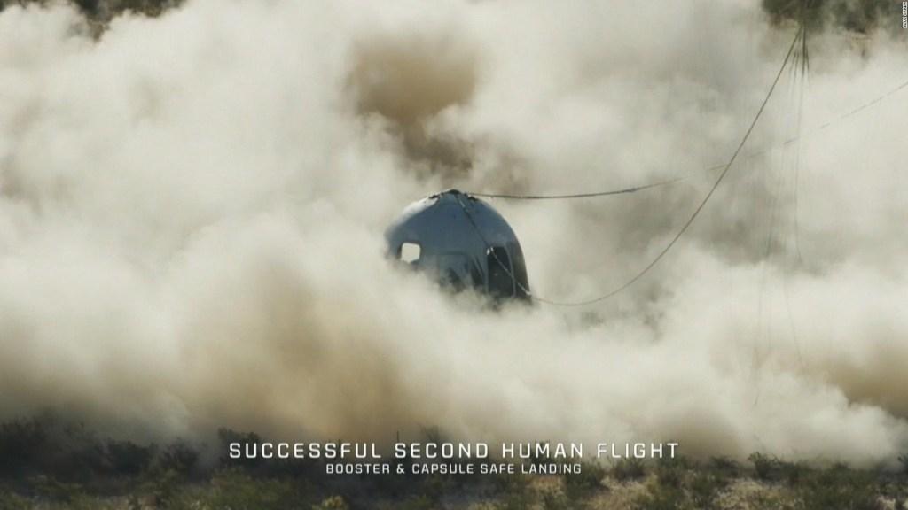 Mira el regreso de la misión de Blue Origin a la Tierra