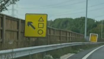 """¿Un cartel que conduce a """"El juego del calamar""""?"""