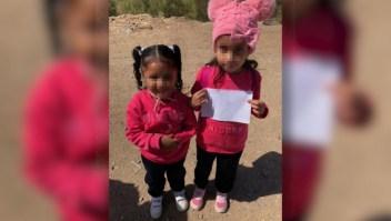 Encuentran dos niñas solas en la frontera con México