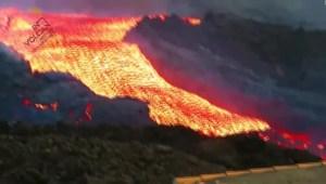 Alerta de nueva boca en el volcán Cumbre Vieja