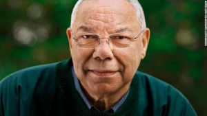 Colin Powell at his home in Virginia. Powell is an American statesman and a retired four-star general in the United States Army. He was the 65th United States Secretary of State, serving under U.S. President George W. Bush from 2001 to 2005, the first African American to serve in that position.