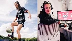 Es jugadora profesional de fútbol y deportes electrónicos