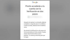 Verificación de dos pasos en Gmail, ¿cómo activarla?
