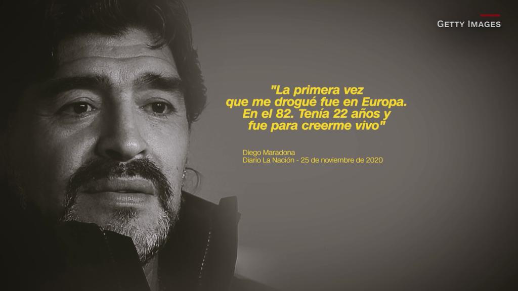 Las drogas, el lado oscuro de Diego Maradona