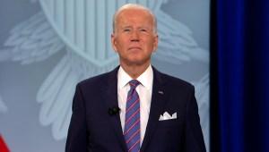 Biden durante el foto de CNN