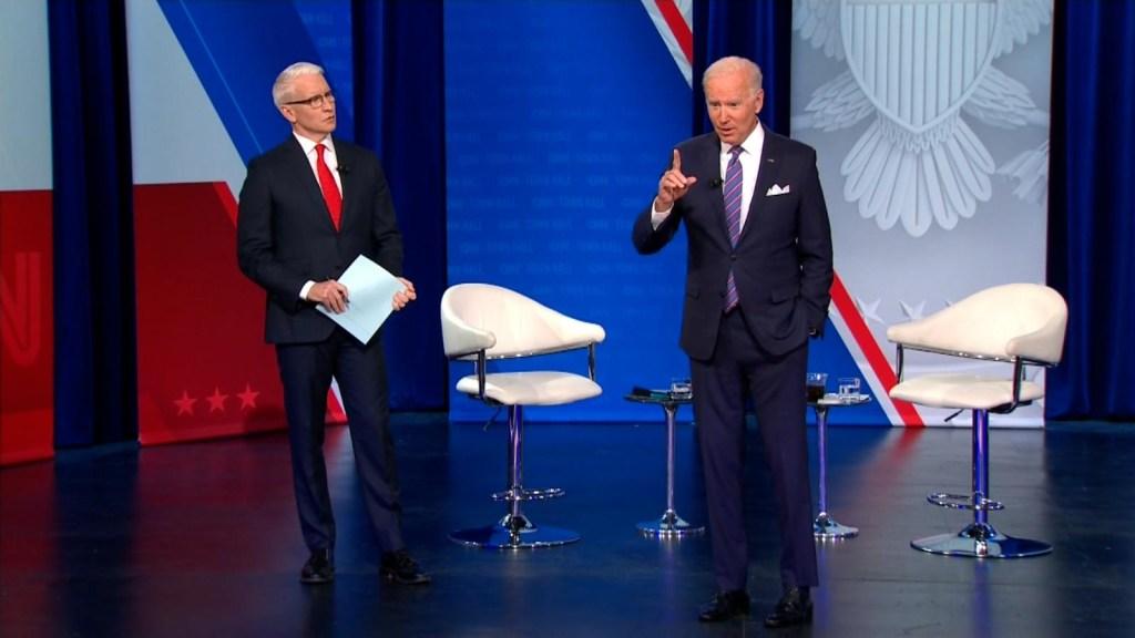 Joe Biden en el foro de CNN