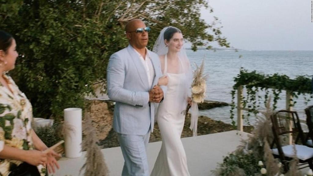 Vin Diesel acompañó a la hija de Paul Walker en su boda