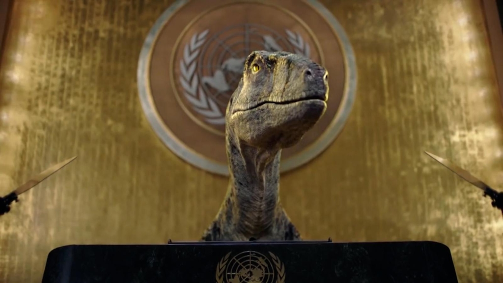 """Dinosaurio """"advierte"""" a los humanos sobre la extinción"""