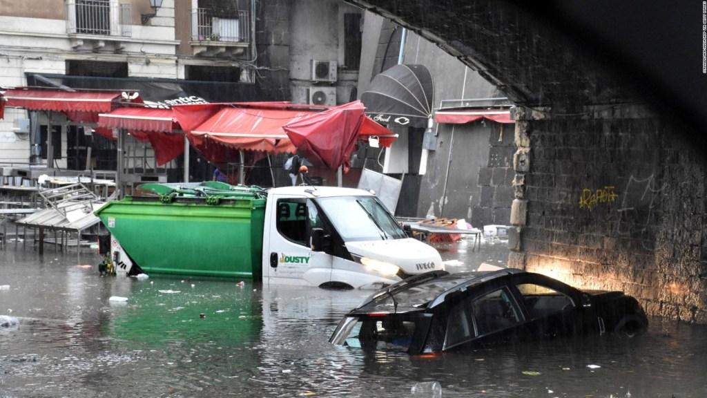 Caos en Italia tras intensas inundaciones
