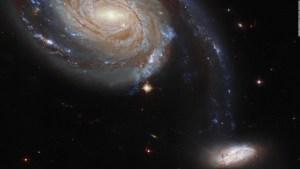Hubble observa una intensa guerra entre galaxias