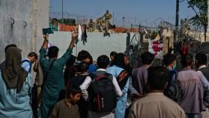 Una imagen de lo que ocurrió en el aeropuerto de Kabul